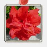 Red Hibiscus Ornament