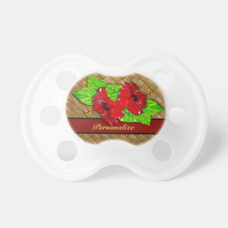 Red Hibiscus Pacifier