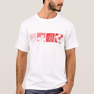 Red Hibiscus pastel design T-Shirt