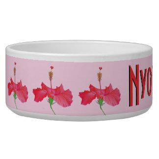 """red hibiscus"" PET BOWL"