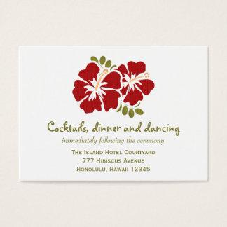 Red Hibiscus Reception Enclosure Cards