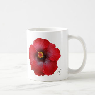 Red Hibiscus Silhouette Mug