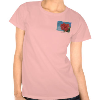 Red Hibiscus Tee Shirts