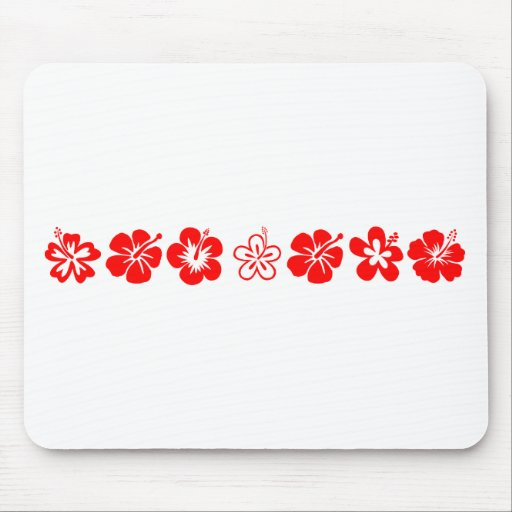 Red Hibiscus Theme Mousepads
