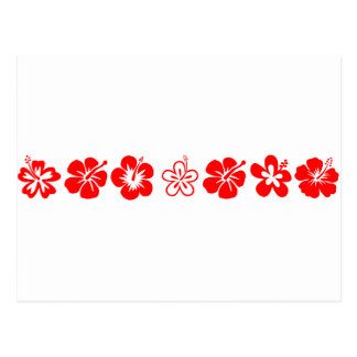 Red Hibiscus Theme Postcard