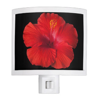 Red Hibiscus Tropical Flower Flowers Floral Night Light