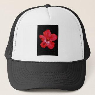 Red Hibiscus Trucker Hat