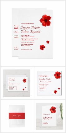 Red Hibiscus Wedding Collection