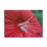 Red Hibiscus With Raindrops iPad Mini Covers