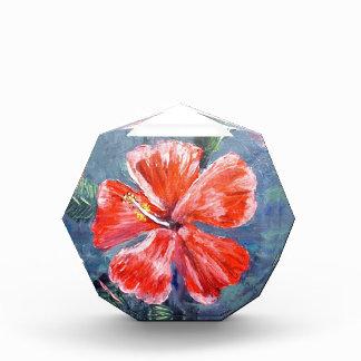 Red Hibisus Flower Art Acrylic Award
