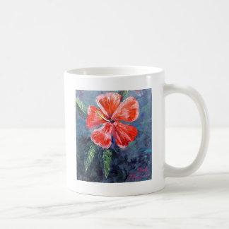 Red Hibisus Flower Art Coffee Mug