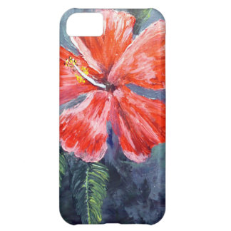 Red Hibisus Flower Art iPhone 5C Covers