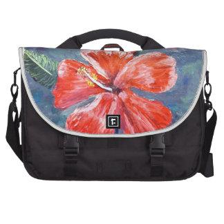 Red Hibisus Flower Art Laptop Bags