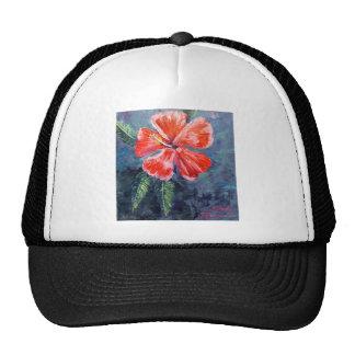 Red Hibisus Flower Art Trucker Hat