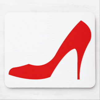 Red High Heel Mouse Pad