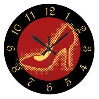 Red High Heel Pump Clock