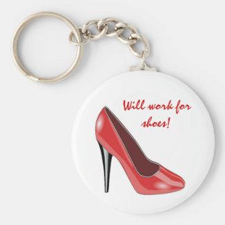 Red High Heel Shoe Keychain