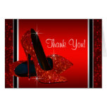 Red High Heel Shoe Thank You Card