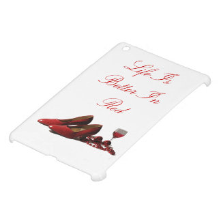 Red High Heel Shoes and Red Wine Case For The iPad Mini