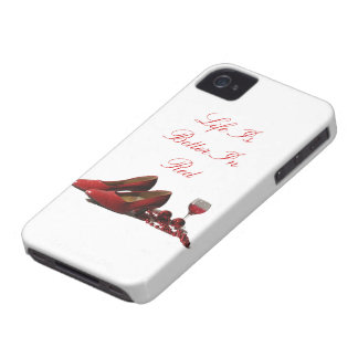 Red High Heel Shoes and Red Wine iPhone 4 Case