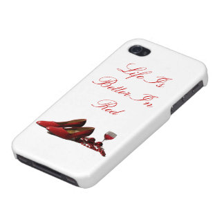 Red High Heel Shoes and Red Wine iPhone 4 Cases