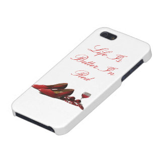 Red High Heel Shoes and Red Wine iPhone SE/5/5s Case