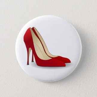 red high heel shoes button