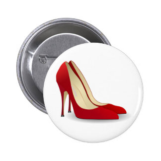 red high heel shoes 2 inch round button