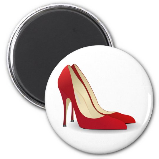 red high heel shoes magnet