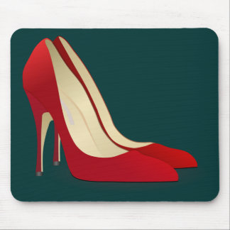 red high heel shoes mouse pad