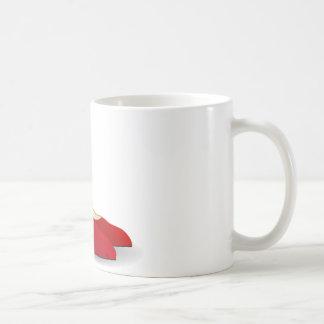 red high heel shoes classic white coffee mug