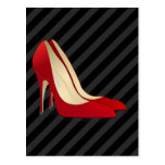 red high heel shoes post cards