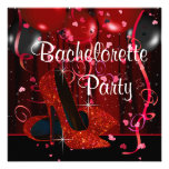 Red High Heel Shoes Red Bachelorette Party Invites