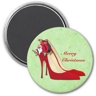 Red High Heel Shoes / Santa Elf / Magnet