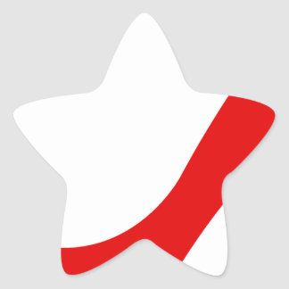 Red High Heel Star Sticker