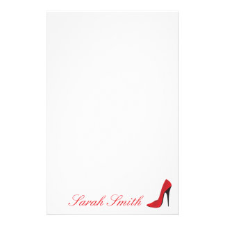Red High Heel Customized Stationery