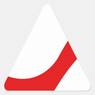 Red High Heel Triangle Sticker