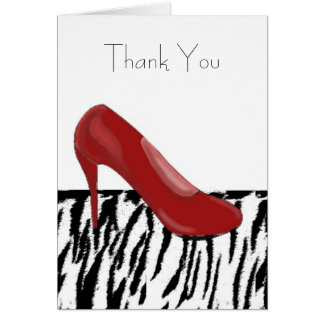 Red High Heel Thank you Greeting Card