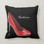 Red High Heel Throw Pillows