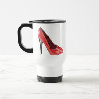Red High Heel Travel Mug