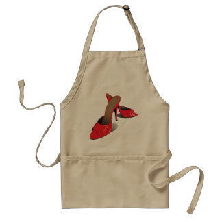 Red High Heeled Shoes Apron Standard Apron