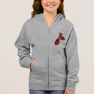 Red High Heeled Shoes Girls Hoodie