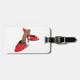 Red High Heeled Shoes Luggage Tags