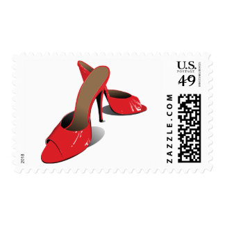 Red High Heeled Shoes Postage