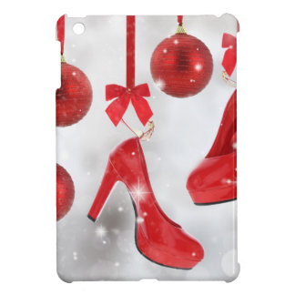 Red High Heels and Christmas Balls and Red Ribbon iPad Mini Cover