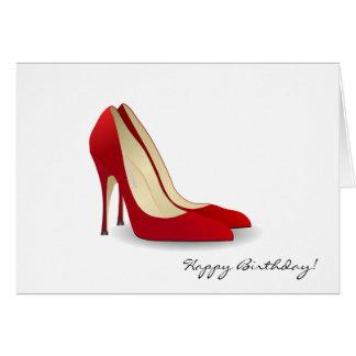 Red High Heels Birthday Card