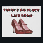 "Red High Heels No Place Like Home Faux Canvas Print<br><div class=""desc"">Sparkly Red High Heels No Place Like Home original art on faux canvas</div>"