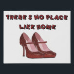 """Red High Heels No Place Like Home Faux Canvas Print<br><div class=""""desc"""">Sparkly Red High Heels No Place Like Home original art on faux canvas</div>"""