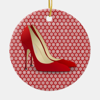 red high heels ornament