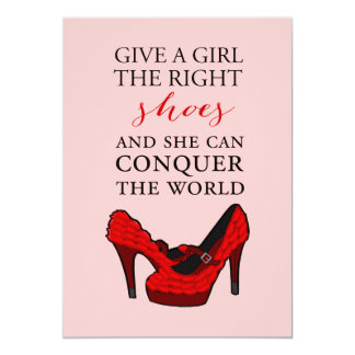 Red High Heels Stiletto Fashion BirthdayInvitation Card